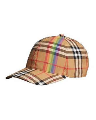 Burberry Rainbow Check Baseball Cap