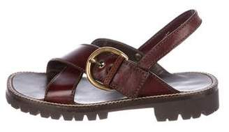 Marc Jacobs Leather Crossover Sandals w/ Tags