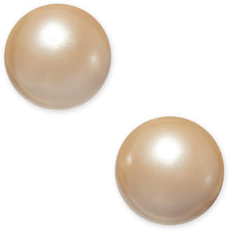 Charter Club Silver-Tone Imitation Pearl Stud Earrings