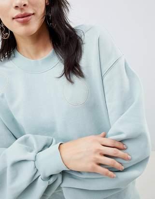 Selected Sweatshirt With Metallic Embroidery