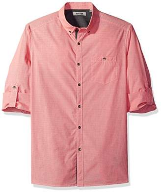 Kenneth Cole Reaction Men's Long Sleeve Micro Check 1 Pocket