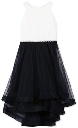 Speechless Big Girls Plus Glitter Lace Fit & Flare Dress