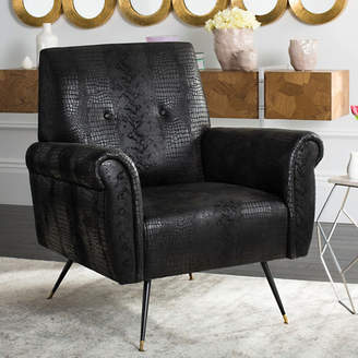 Willa Arlo Interiors Richardson Retro Mid Century Faux Leather Armchair