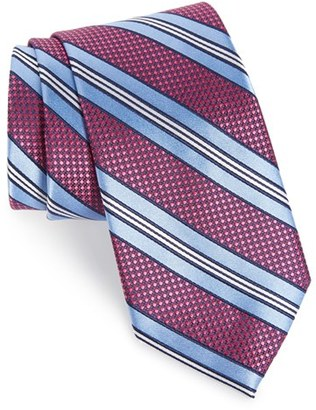 Men's Nordstrom Men's Shop Stripe Silk & Cotton Tie $49.50 thestylecure.com