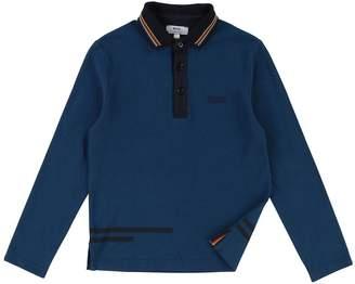 BOSS Boys Long Sleeve Pique Stripe Collar Polo Shirt