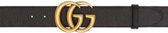 Gucci Black GG Marmont Belt $390 thestylecure.com