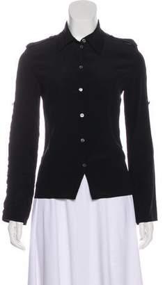 Celine Silk Button-Up Top