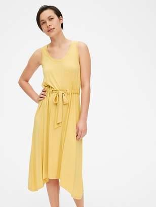 Gap Handkerchief Tie-Waist Tank Midi Dress