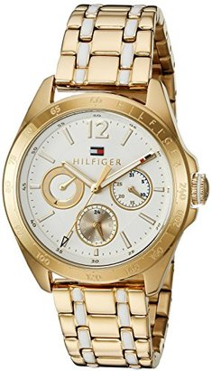 Tommy Hilfiger (トミー ヒルフィガー) - トミーヒルフィガーレディースクオーツゴールドCasual Watch ( Model : 1781665 )