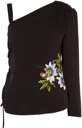 Karen Millen Floral One Shoulder Top