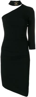 Elisabetta Franchi one-shoulder fitted dress