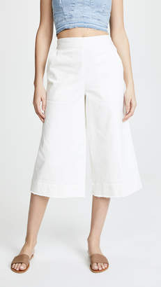 Splendid Cotton Twill High Waisted Pants