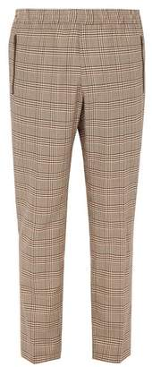 Stella McCartney Houndstooth Checked Wool Blend Trousers - Mens - Beige