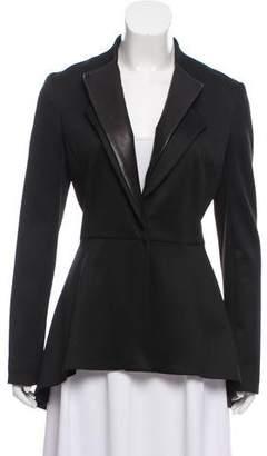 Cushnie et Ochs Leather Accented Long Sleeve Blazer w/ Tags