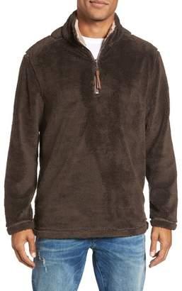 True Grit Pebble Pile Faux Fur Half Zip Pullover