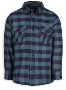 Andy & Evan Little Boy's& Boy's Two Pocket Buffalo Check Shirt