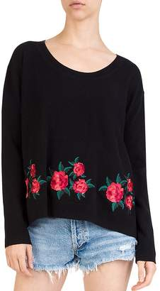 The Kooples Embroidered Wool & Cashmere Sweater