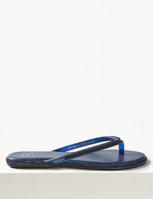 Pixi M&S CollectionMarks and Spencer Diamante Flip-flops Sandals
