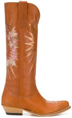 Golden Goose decorated western boots