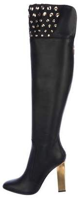 Rene Caovilla Leather Over-The-Knee Boots