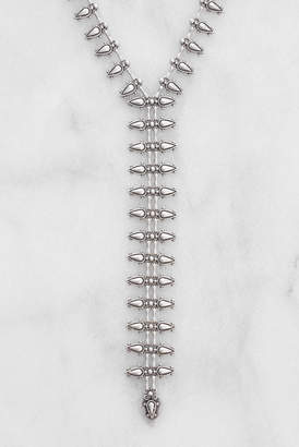 Chanour Pewter Zipper Necklace