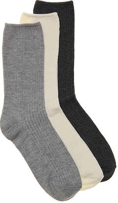 Kelly & Katie Solid Ribbed Crew Socks - 3 Pack - Women's