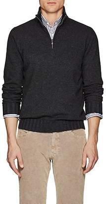 Fioroni Men's Duvet Cashmere Half-Zip Turtleneck Sweater