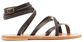 K. Jacques Zenobie Wraparound Leather Sandals - Womens - Black