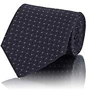 Line & Dot Cifonelli Men's Line-Dot Silk Jacquard Necktie-Navy