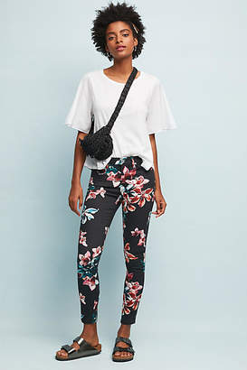 7 For All Mankind Floral Mid-Rise Skinny Ankle Jeans