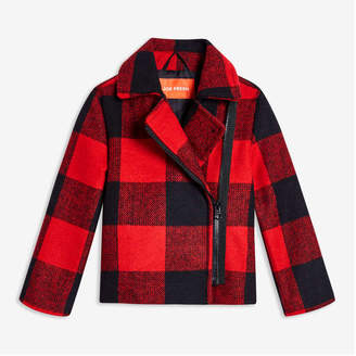 Joe Fresh Toddler Girls' Buffalo Plaid Jacket, Bright Red (Size 2)