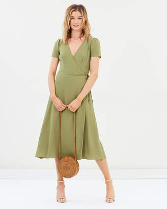 Cooper St Rain Wrap Midi Dress