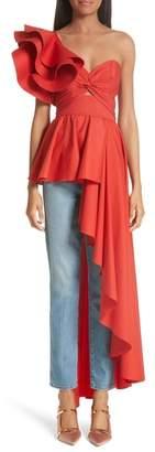 Johanna Ortiz Paso Asymmetrical One Shoulder Top