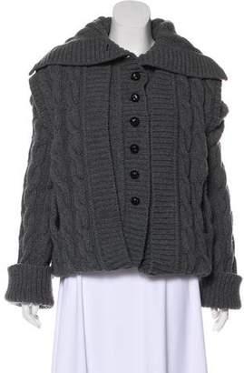 Alexander McQueen Cable Knit Longline Cardigan