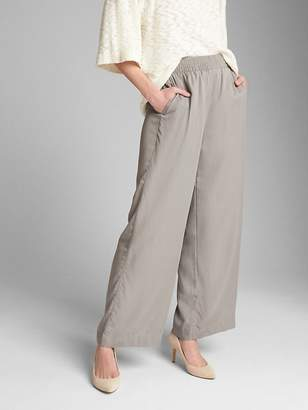 Gap Wide-Leg Pants with Smocked Waist in TENCEL