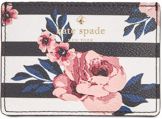 Kate Spade Hyde Lane Rose Striped Card Holder