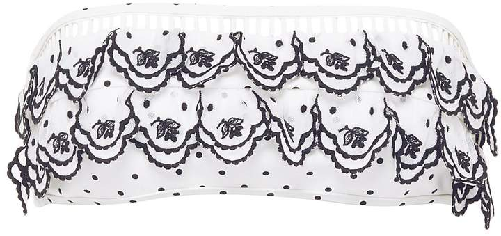 'Tali' scalloped tiered polka dot bandeau top