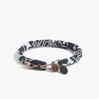 J.Crew MikiaTM bandana bracelet in navy