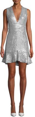 Saylor Stretch Sequin Mini Sleeveless Dress