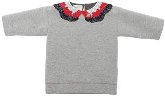 Gucci Crochet Collar Double Jersey Sweatshirt