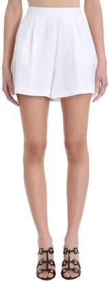 L'Autre Chose White Cotton Shorts