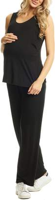 Everly Grey Jacqueline Maternity/Nursing Tank & Pants