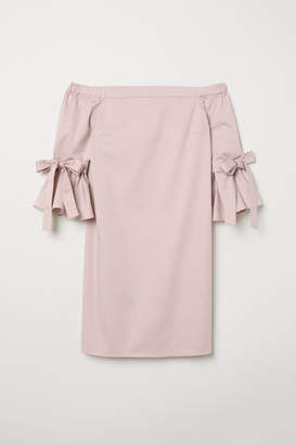 H&M Off-the-shoulder Dress - Pink