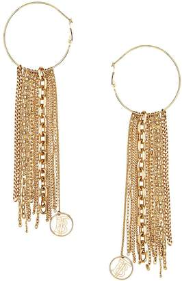 Burberry Chain Detail Gold-plated Hoop Earrings