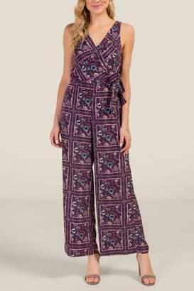 Mallory Surplus Printed Jumpsuit - Purple