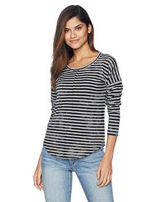 Lucky Brand Women's Crew Neck Stripe TEE