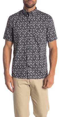 Kennington Flower Vine Print Slim Fit Shirt