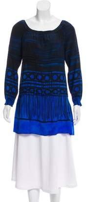 Miu Miu Printed Silk Tunic