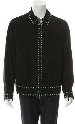 Valentino Embellished Suede Jacket w/ Tags