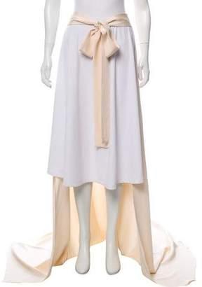 Juan Carlos Obando Silk Overlay Maxi Skirt